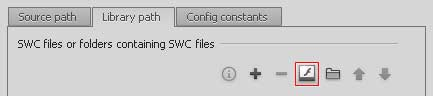 Browse to SWC file