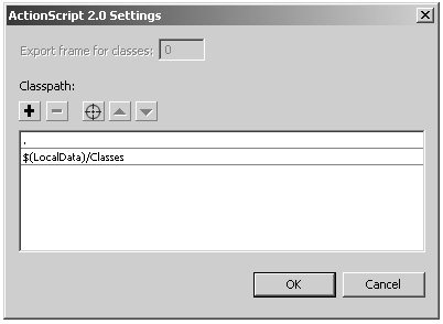 ActionScript 2.0 Settings...